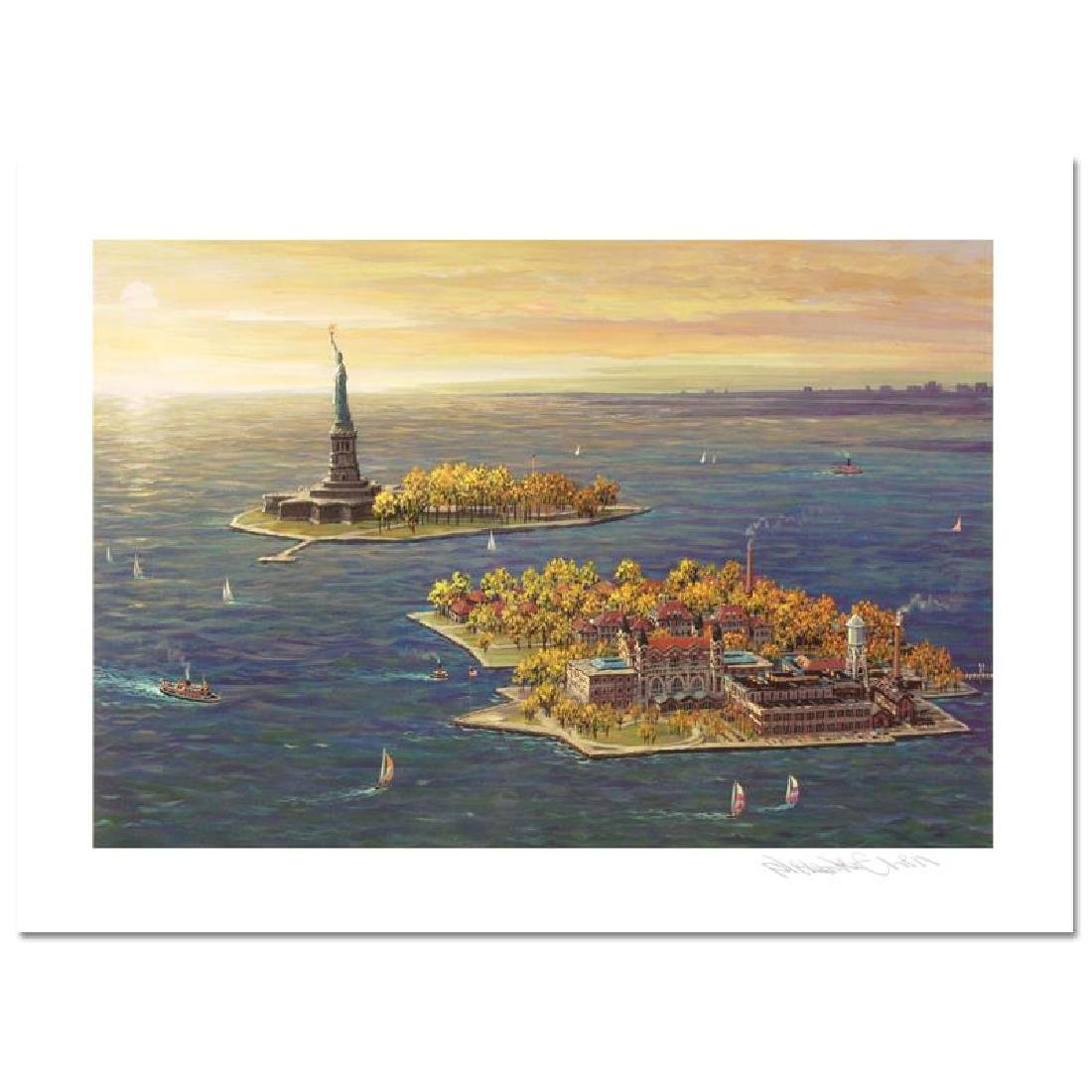 Ellis Island - Fall LIMITED EDITION Mixed Media by