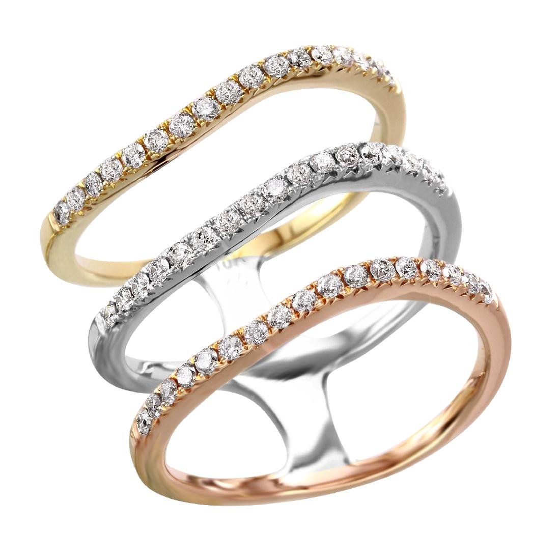 10KT Tri-Gold Diamond Ring
