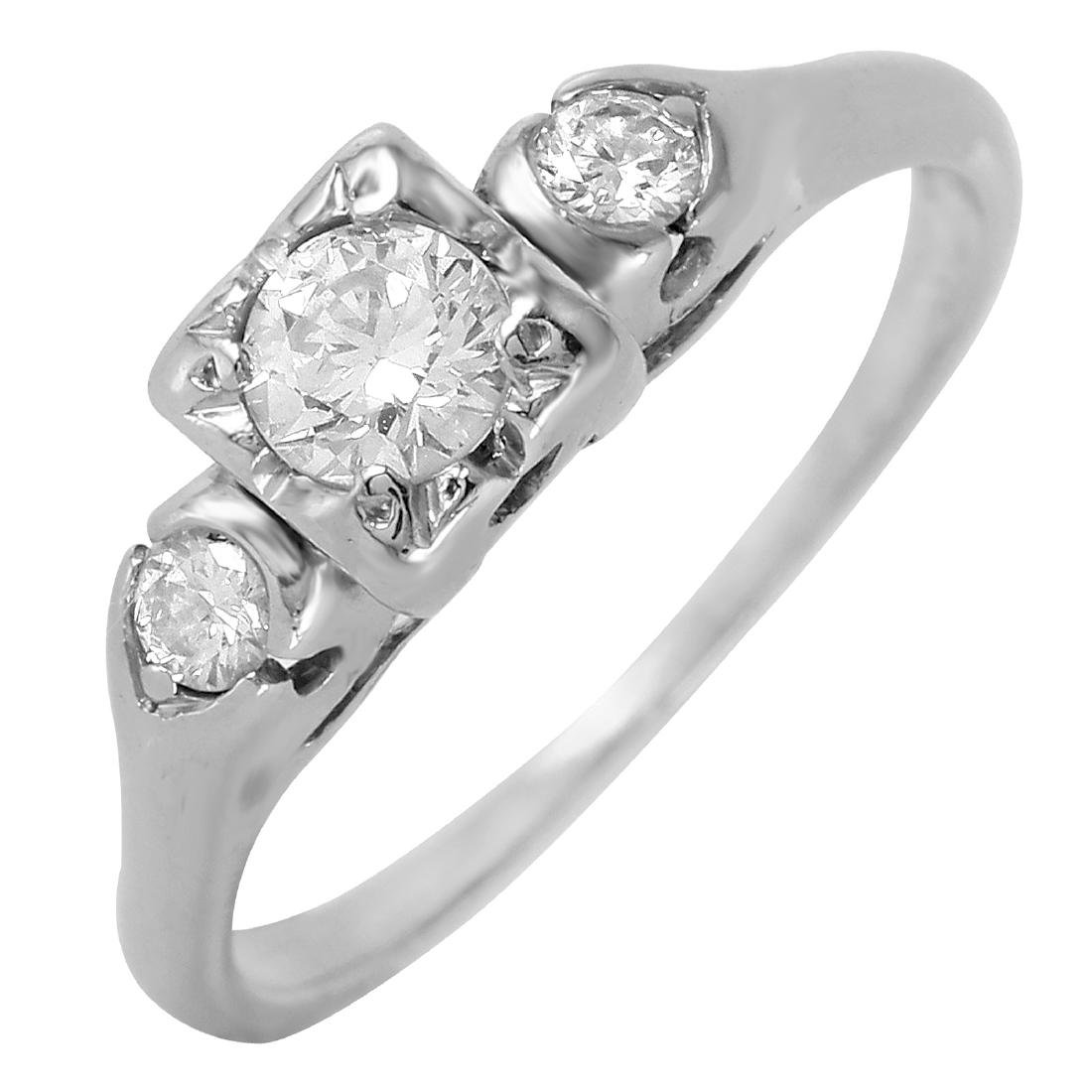 Platinum Diamond Three Stone Ring