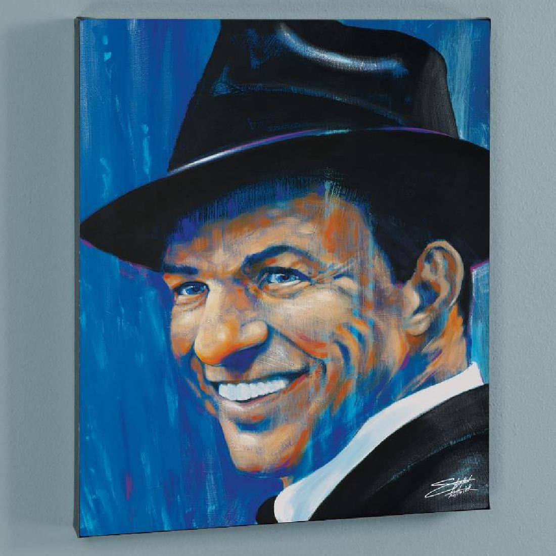 """Old Blue Eyes"" LIMITED EDITION Giclee on Canvas by"
