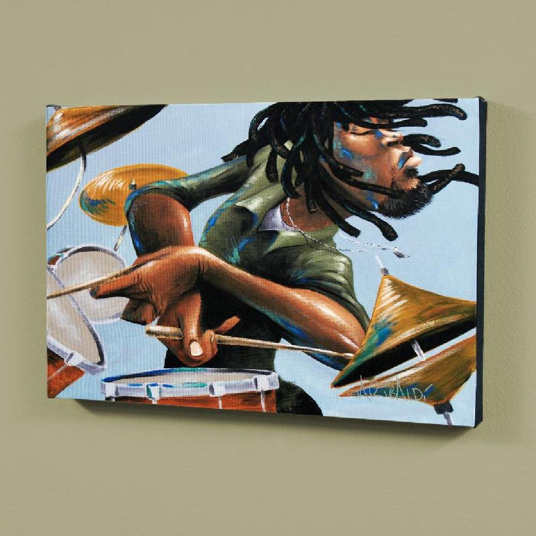 """Dreads And Drums"" LIMITED EDITION Giclee on Canvas by"