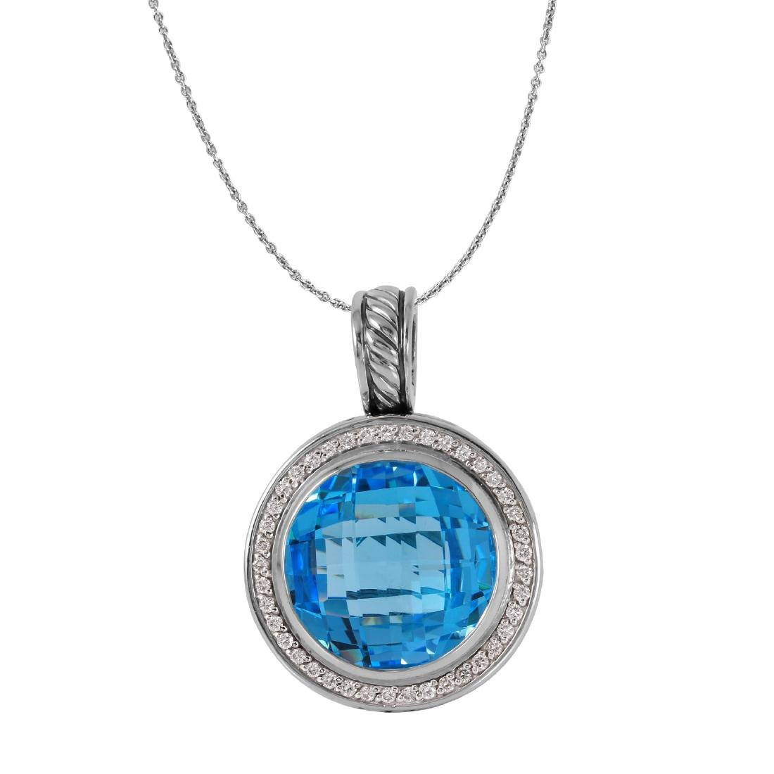 David Yurman Diamond Albion Topaz Pendant
