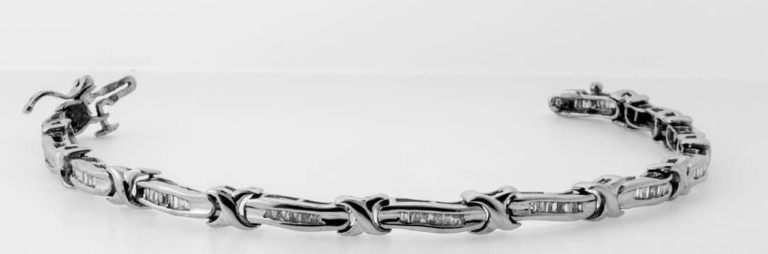 14KT White Gold Diamond Tennis Bracelet