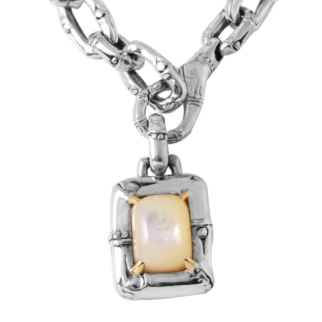 John Hardy Silver 18KT Gold Necklace & Pendant