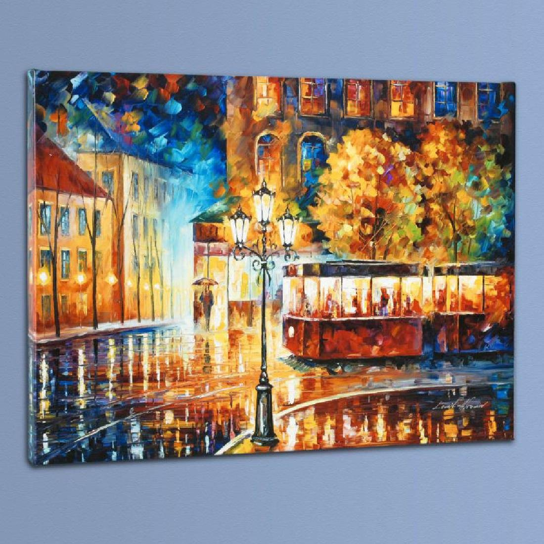 """Night Trolley"" LIMITED EDITION Giclee on Canvas by"