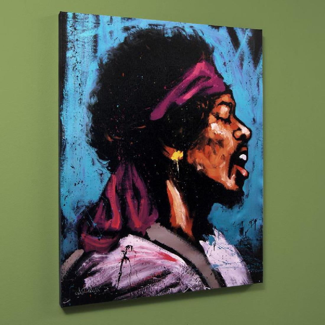 """Jimi Hendrix (Bandana)"" Limited Edition Giclee on"