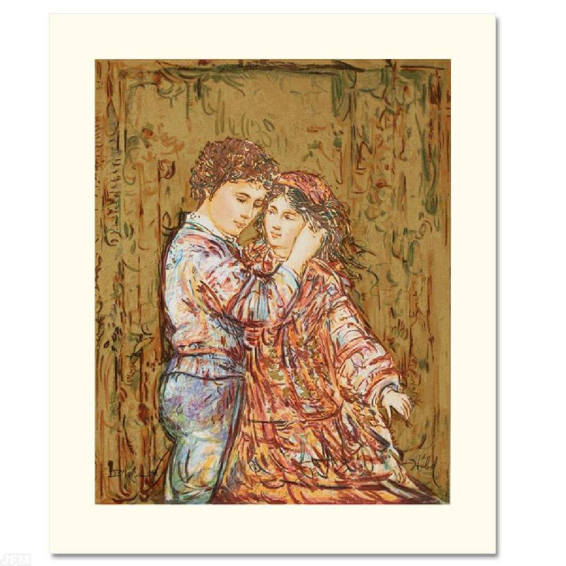 """Interlude"" Limited Edition Serigraph by Edna Hibel"