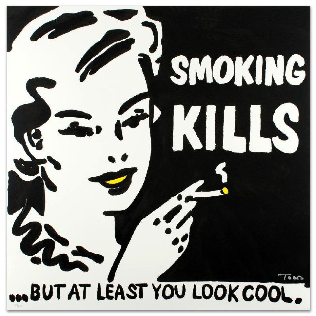 """""""Smoking Kills"""" Limited Edition Lithograph by Todd"""