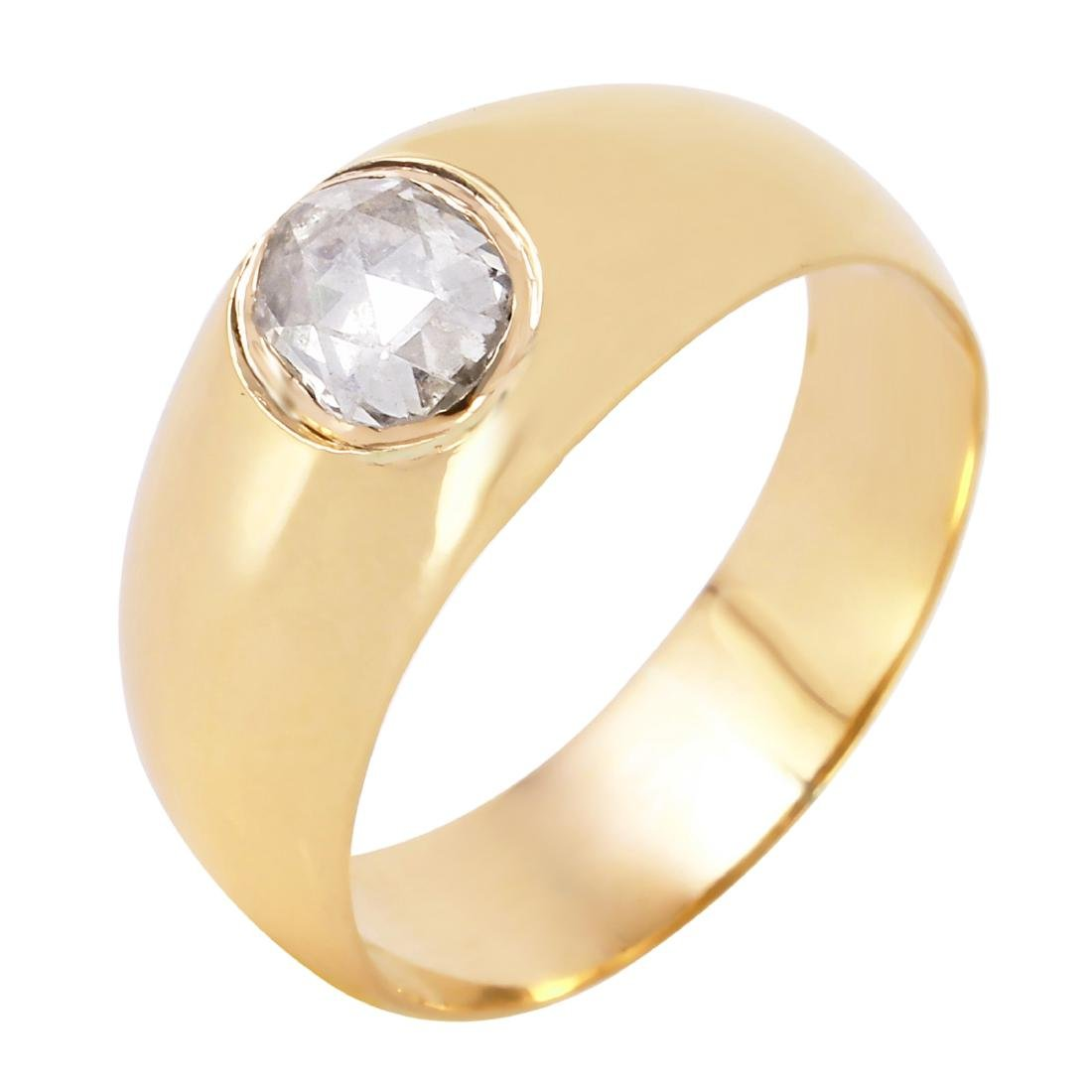 14KT Yellow Gold Soltaire Diamond Ring