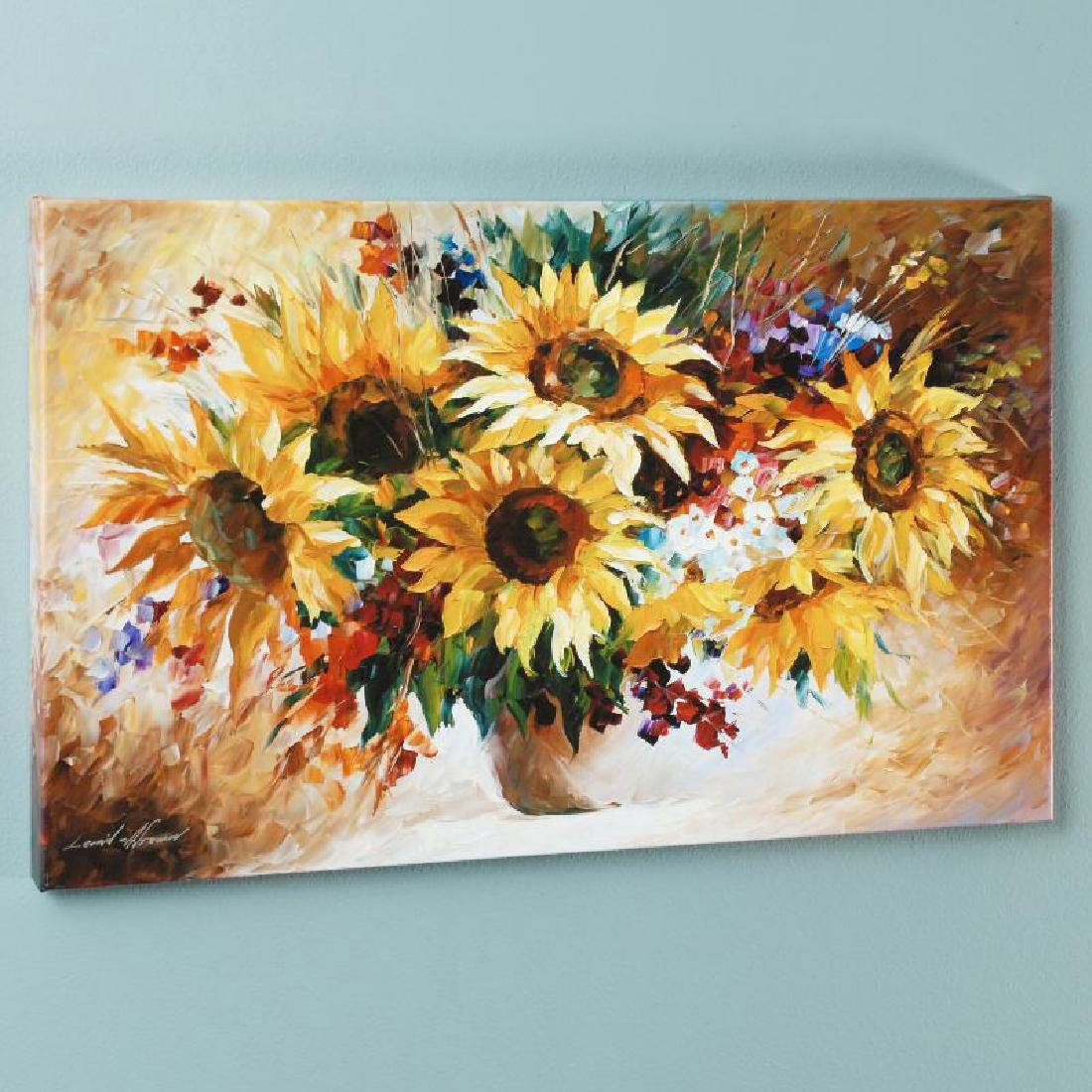 """""""Sunflowers"""" LIMITED EDITION Giclee on Canvas by Leonid"""