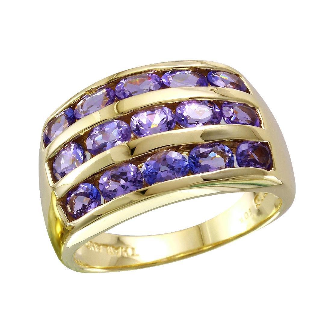 10KT Yellow Gold Tanzanite Ring