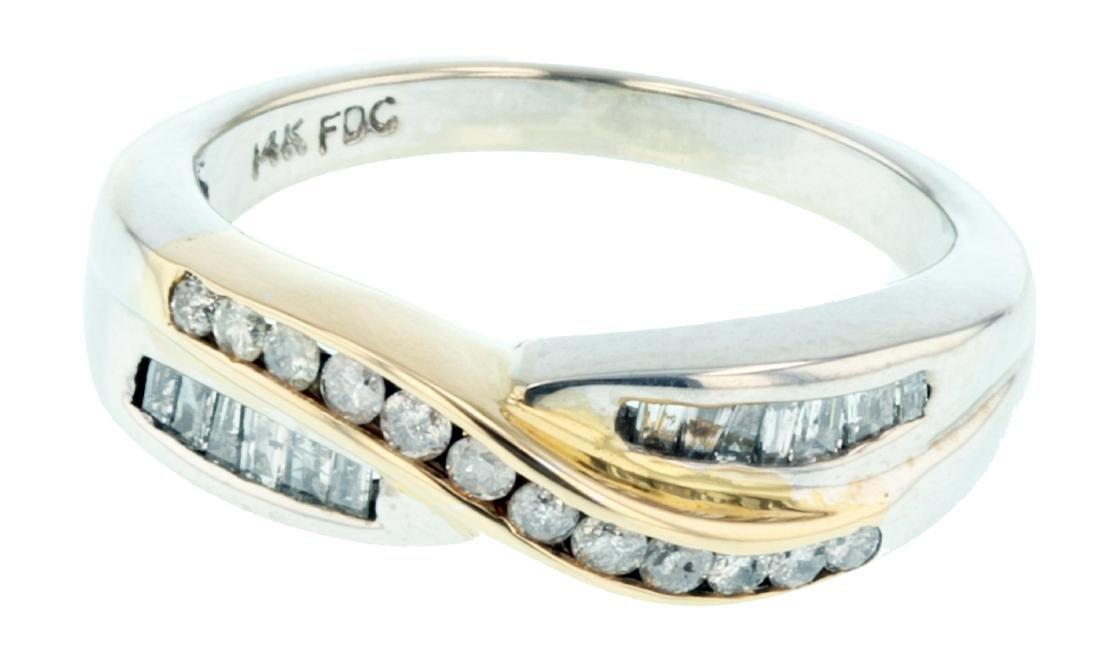 14KT White Gold Mixed Cut Diamond Ring