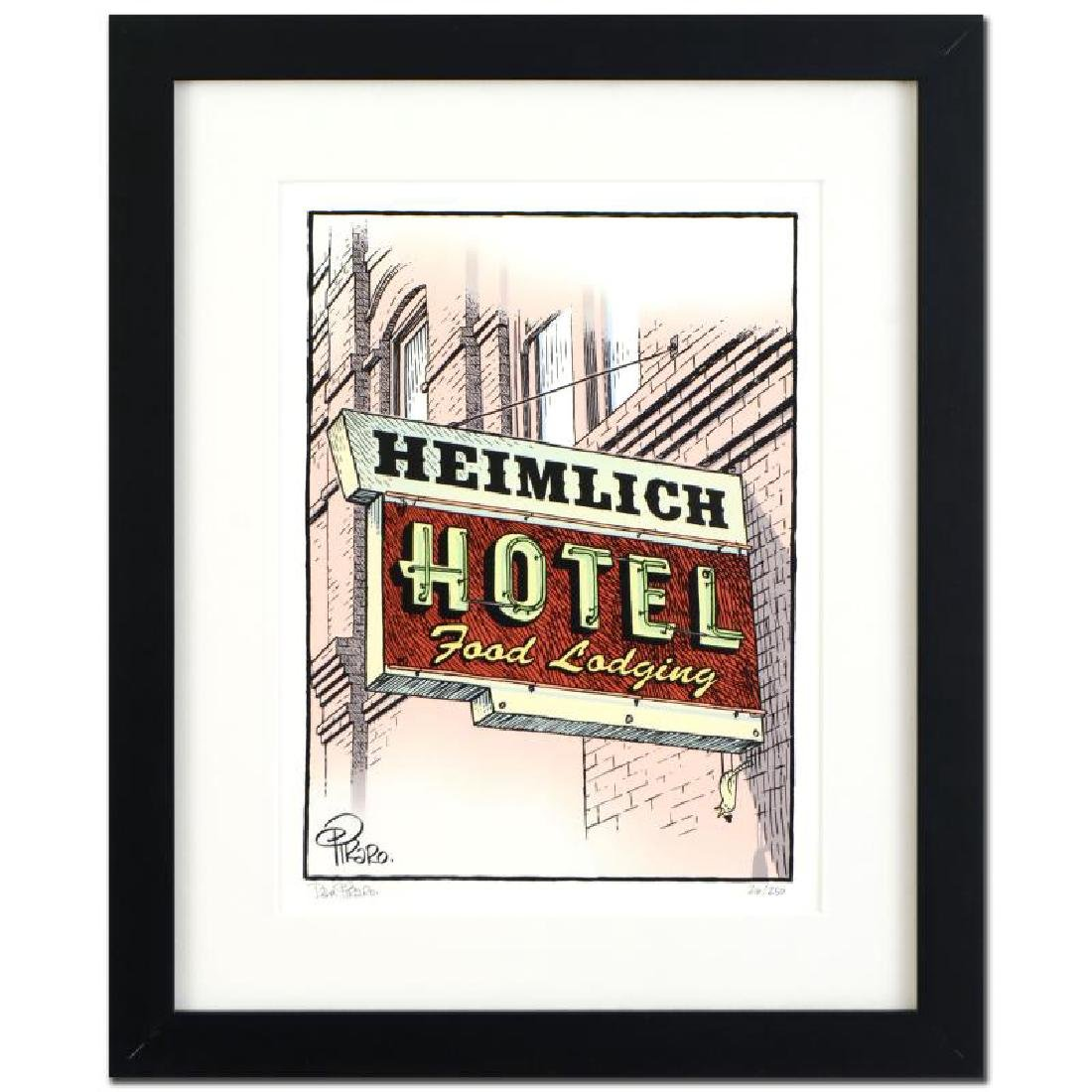 "Bizarro! ""Heimlich Hotel"" is a Framed Limited Edition"