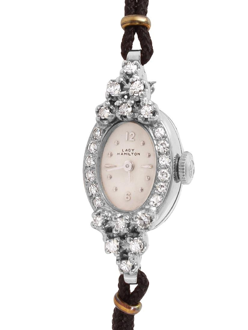 Hamilton Diamond 14KT White Gold Watch