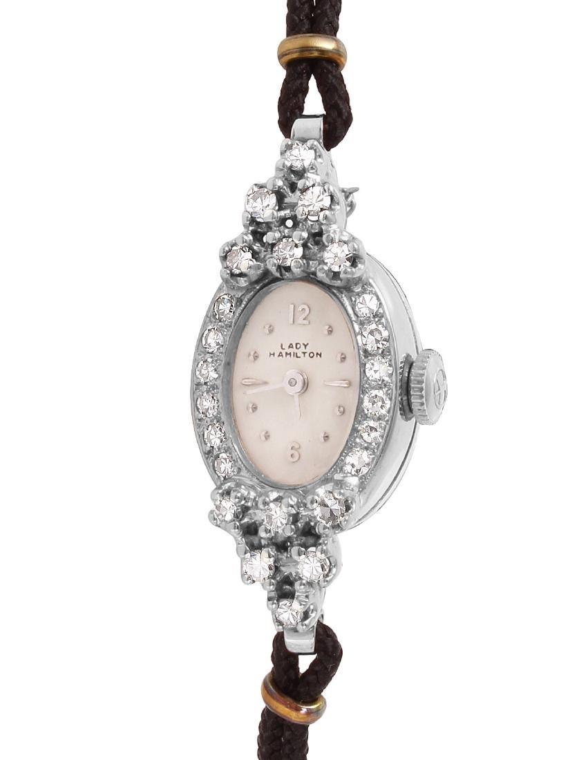 Hamilton Diamond 14KT White Gold Watch