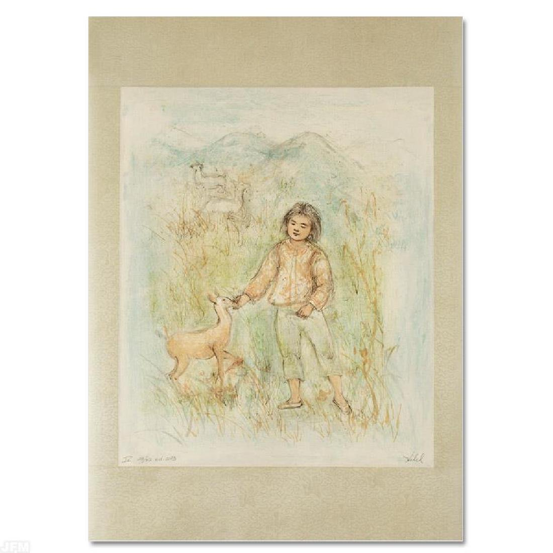 """The Forest Friend"" LIMITED EDITION Lithograph by Edna"