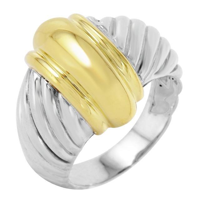 David Yurman Sterling Silver 18KT Gold Ring