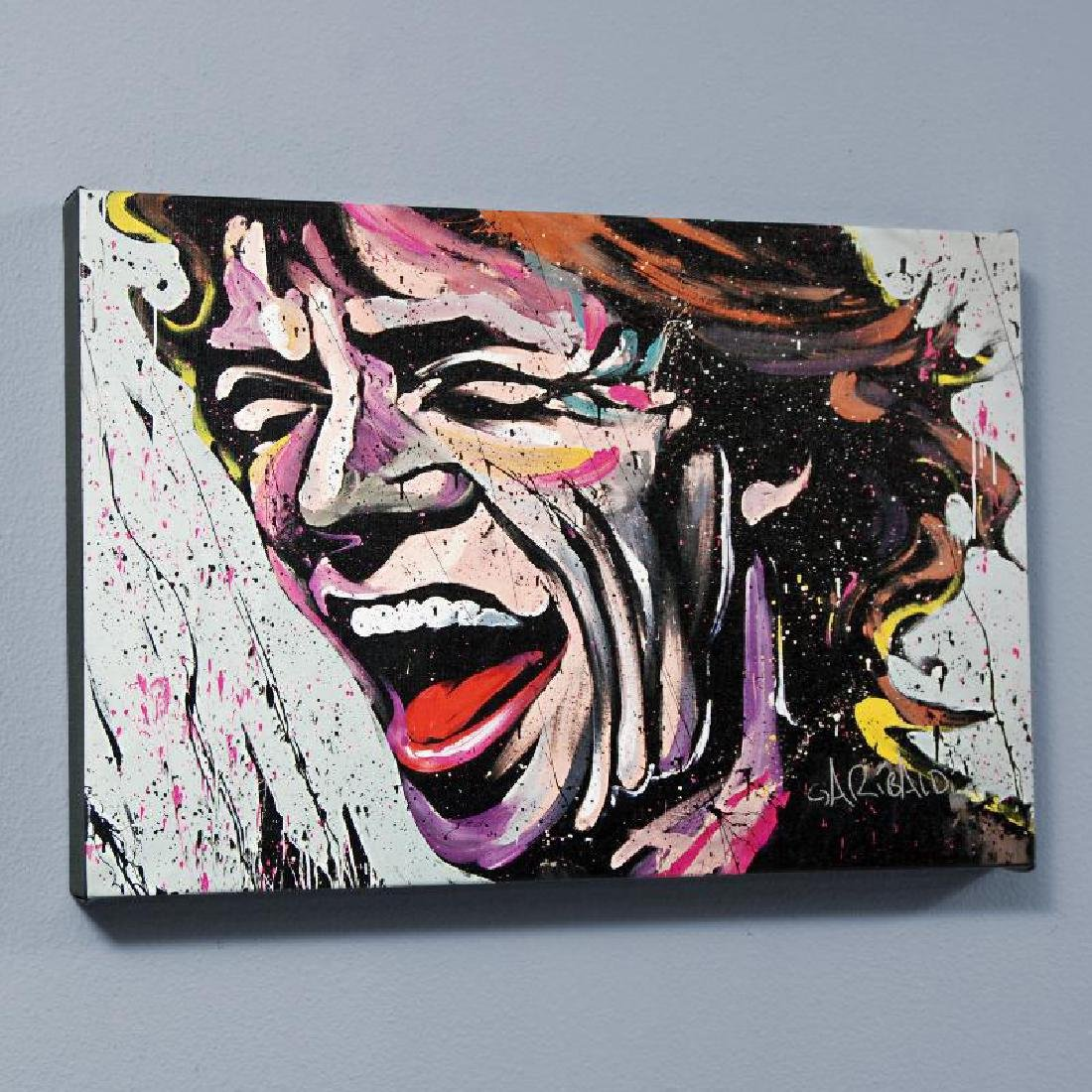 """""""Mick Jagger"""" LIMITED EDITION Giclee on Canvas (60"""" x"""