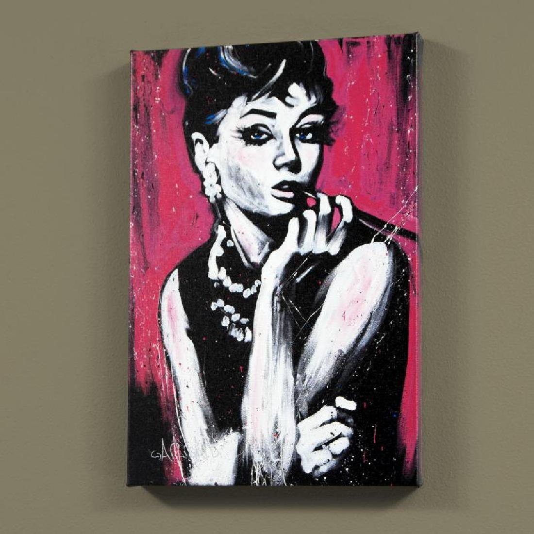 """""""Audrey Hepburn (Fabulous)"""" LIMITED EDITION Giclee on"""