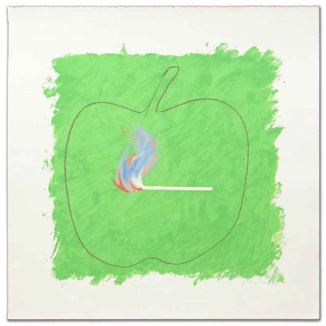 """""""Green Flame"""" Limited Edition Lithograph by Robert"""