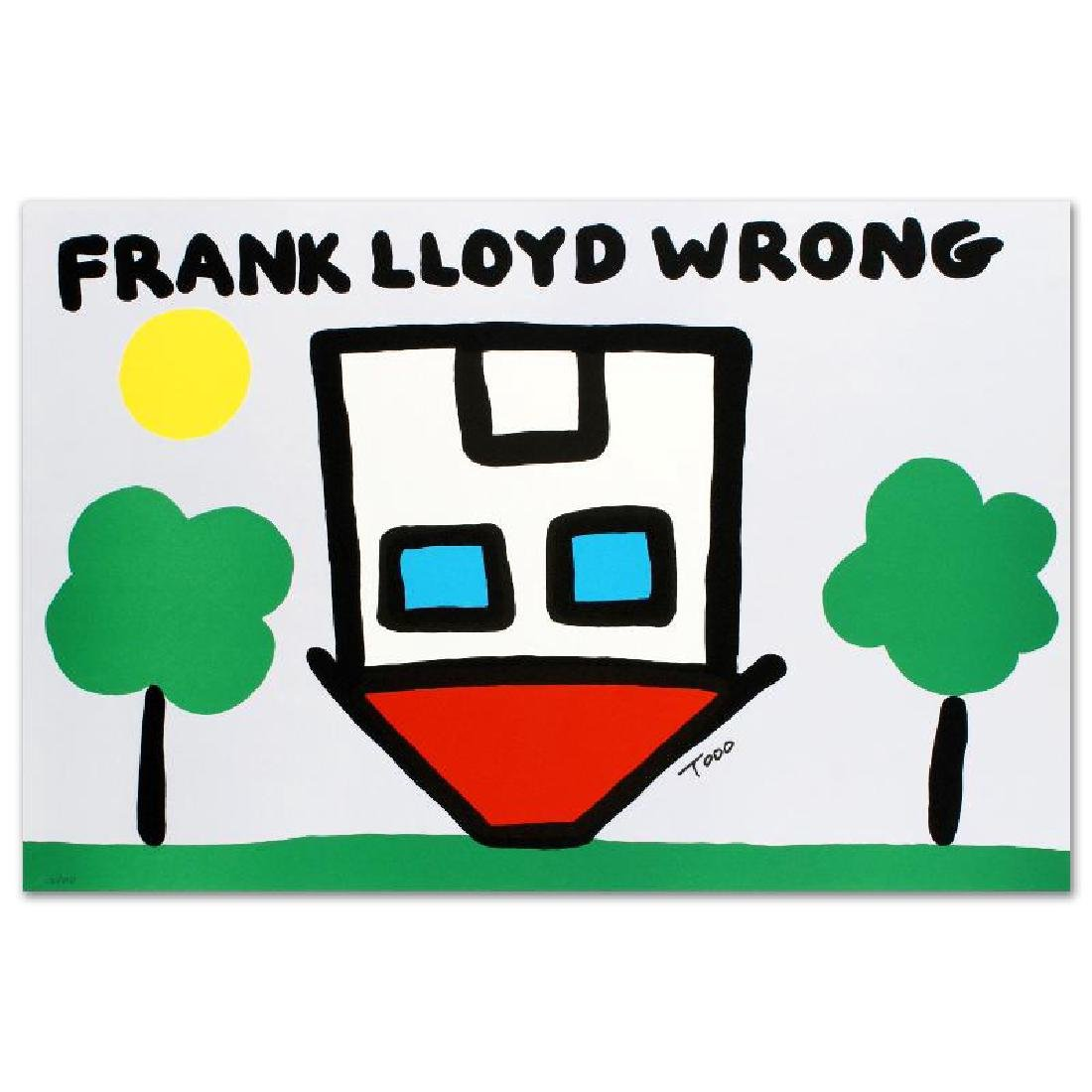 """Frank Lloyd Wrong"" Limited Edition Lithograph by Todd"