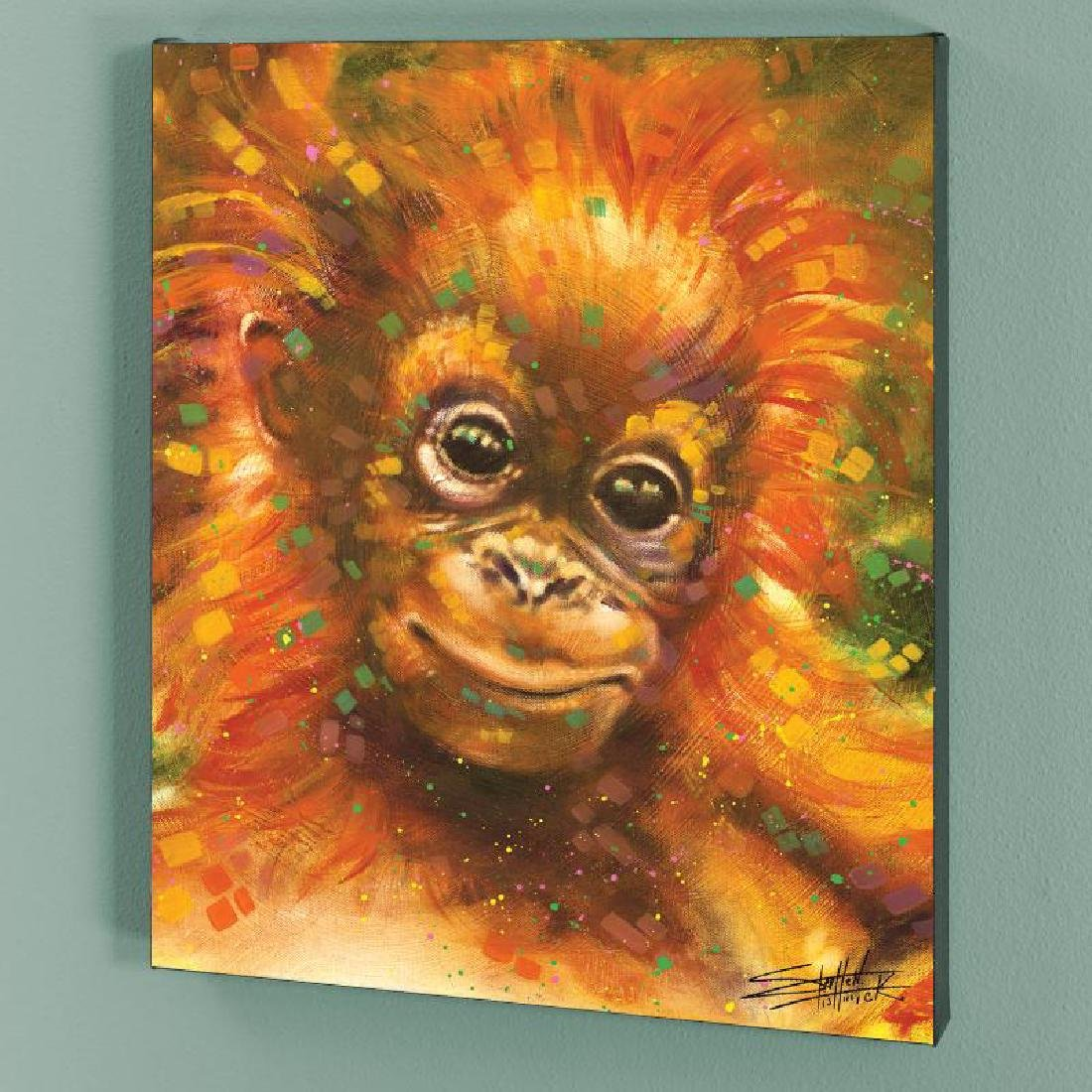 """Baby Orangutan"" LIMITED EDITION Giclee on Canvas by"
