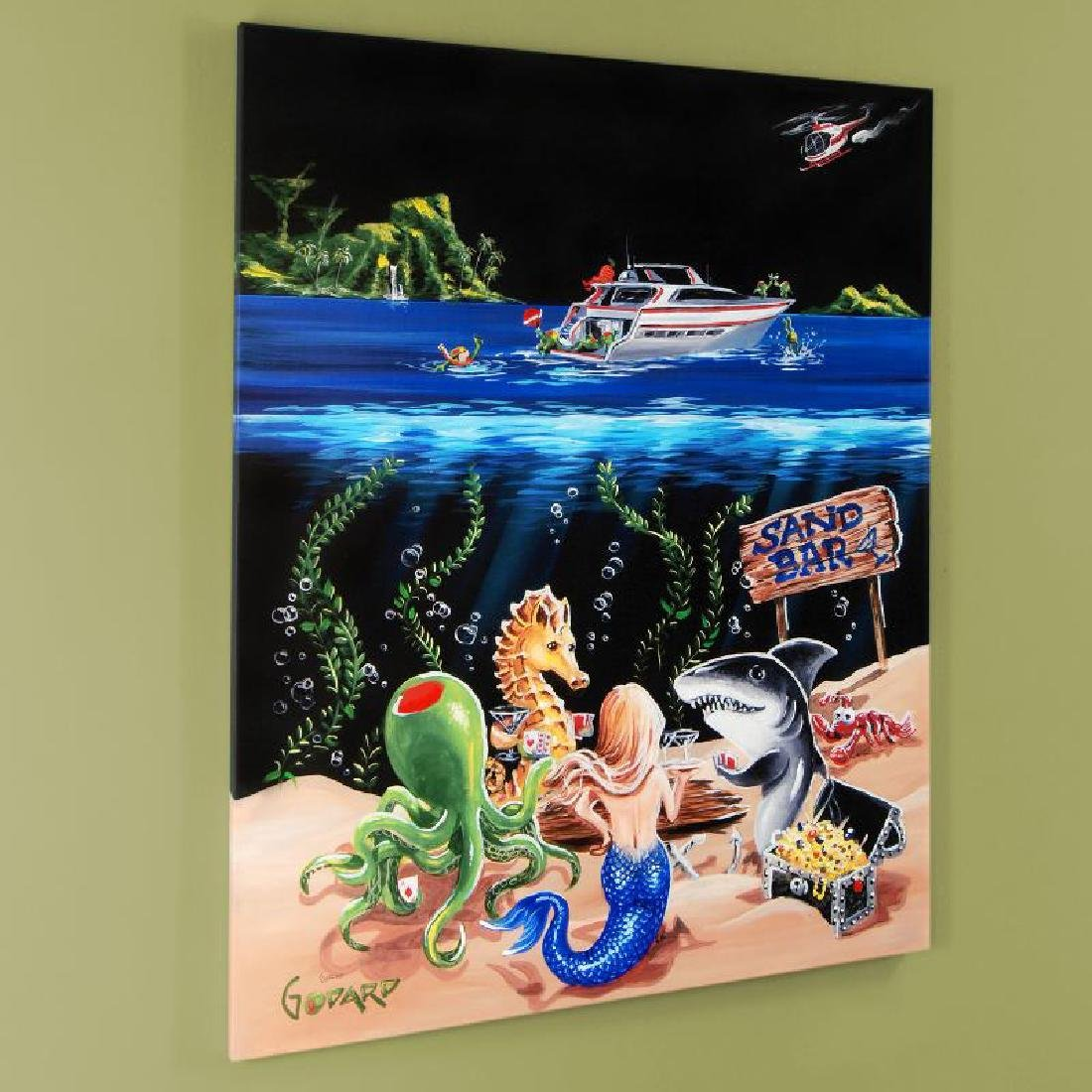 """Sand Bar 1"" Mural LIMITED EDITION Hand-Embellished"