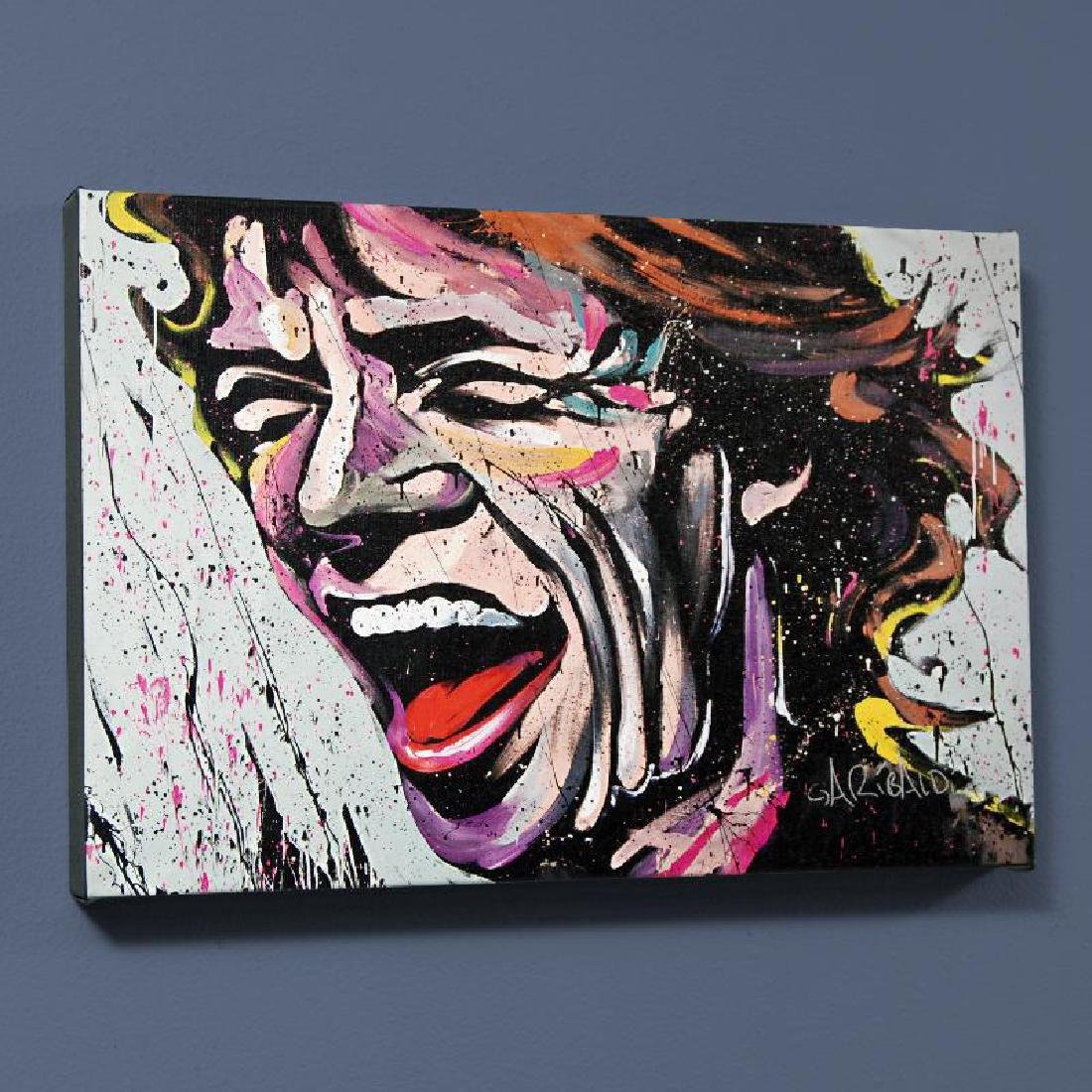 """Mick Jagger"" LIMITED EDITION Giclee on Canvas by David"