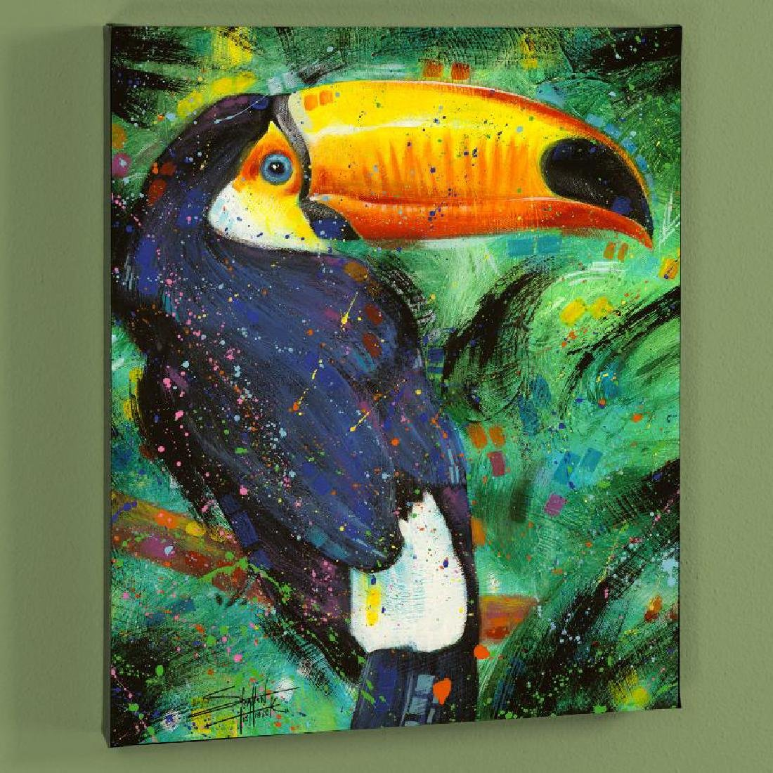 """Toucan"" LIMITED EDITION Giclee on Canvas by Stephen"