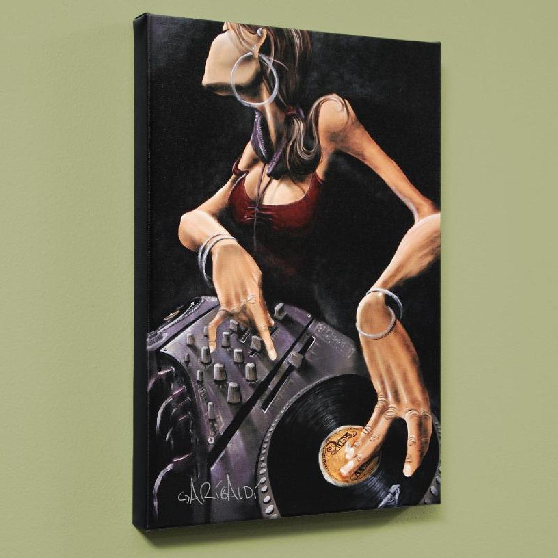 """DJ Jewel"" LIMITED EDITION Giclee on Canvas by David"