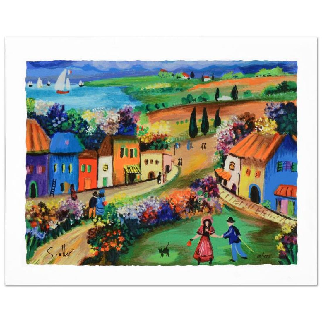 """""""The Village"""" Limited Edition Serigraph by Shlomo"""