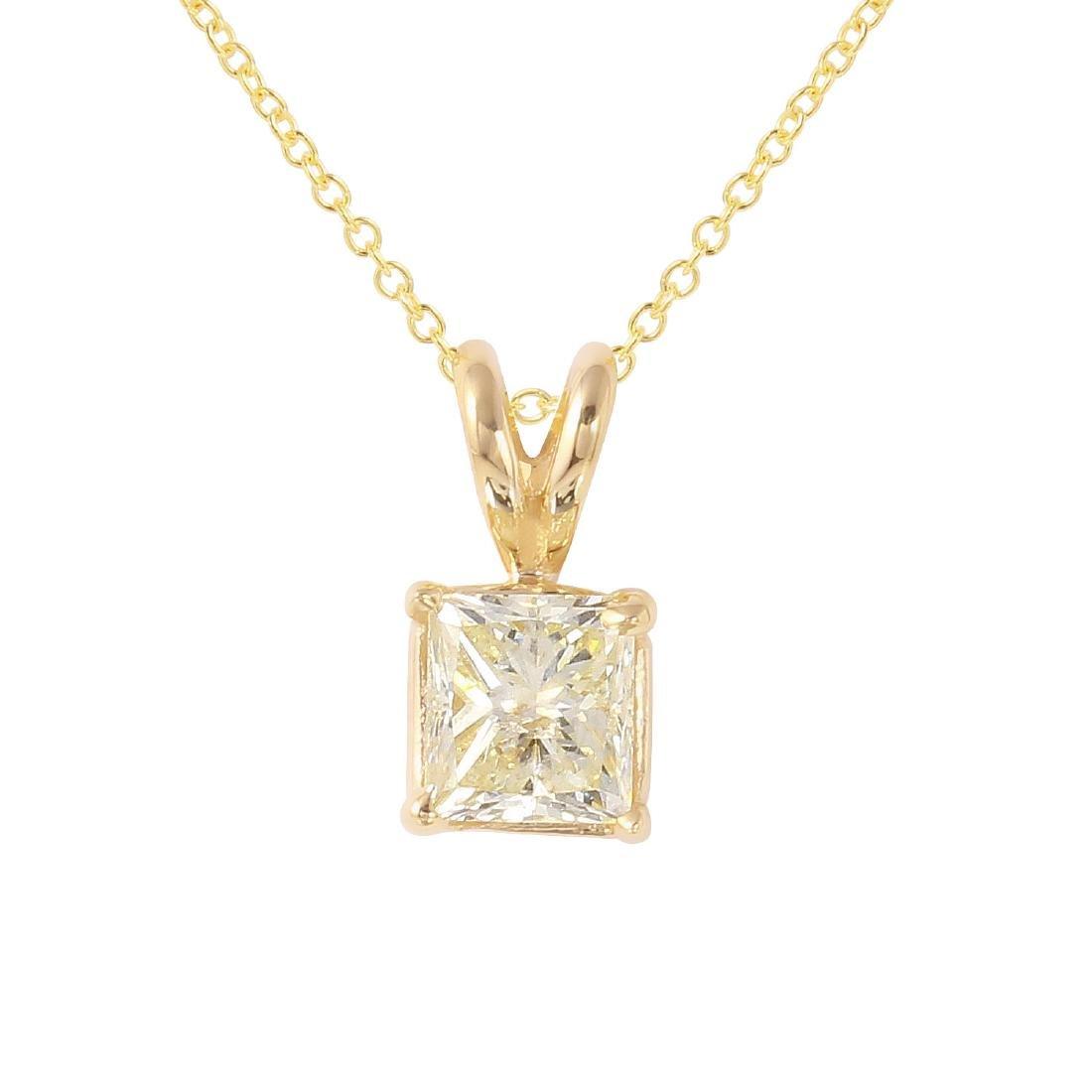 14KT Yellow Gold Diamond Pendant & Chain