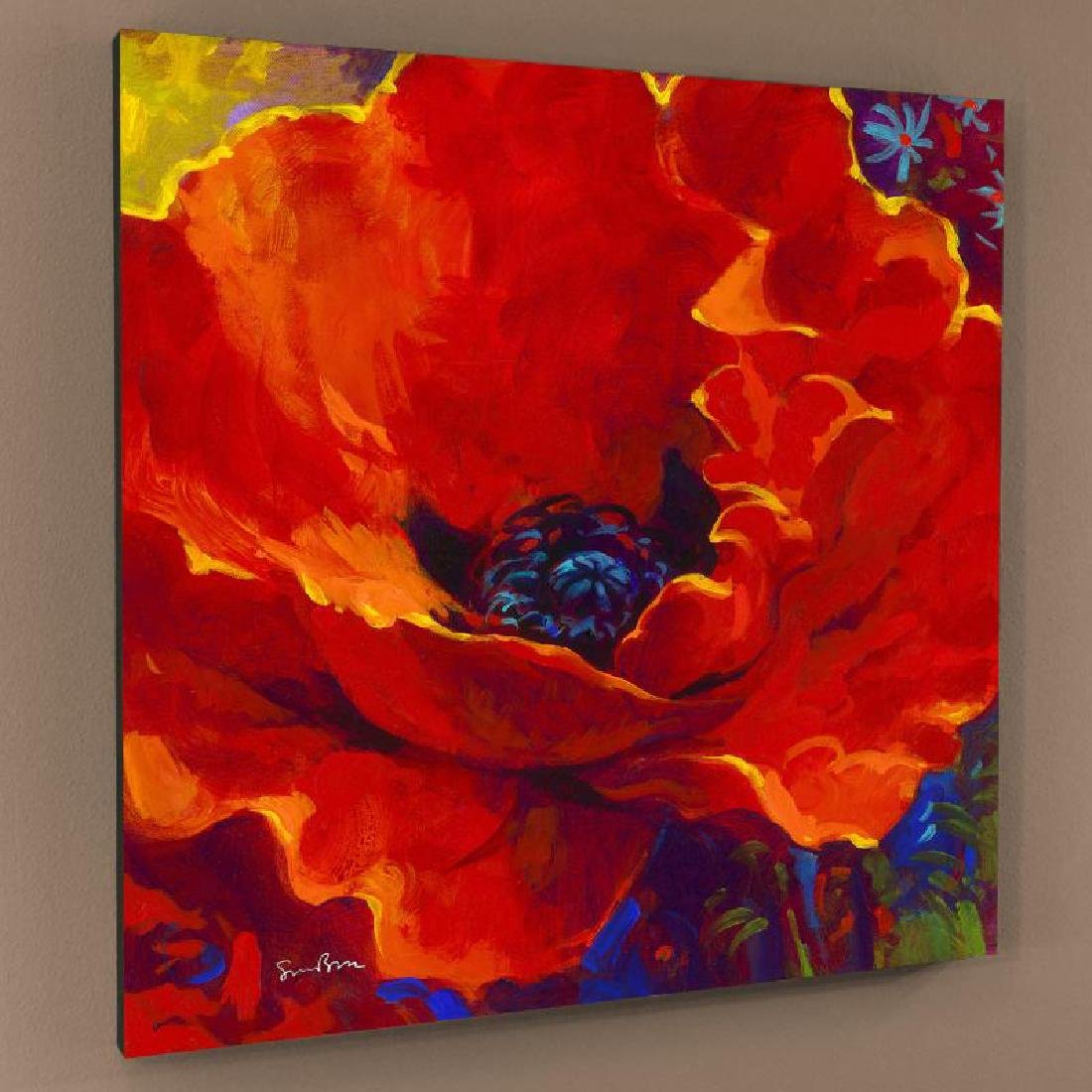 """""""Lady In Red"""" Limited Edition Giclee on Canvas by Simon"""