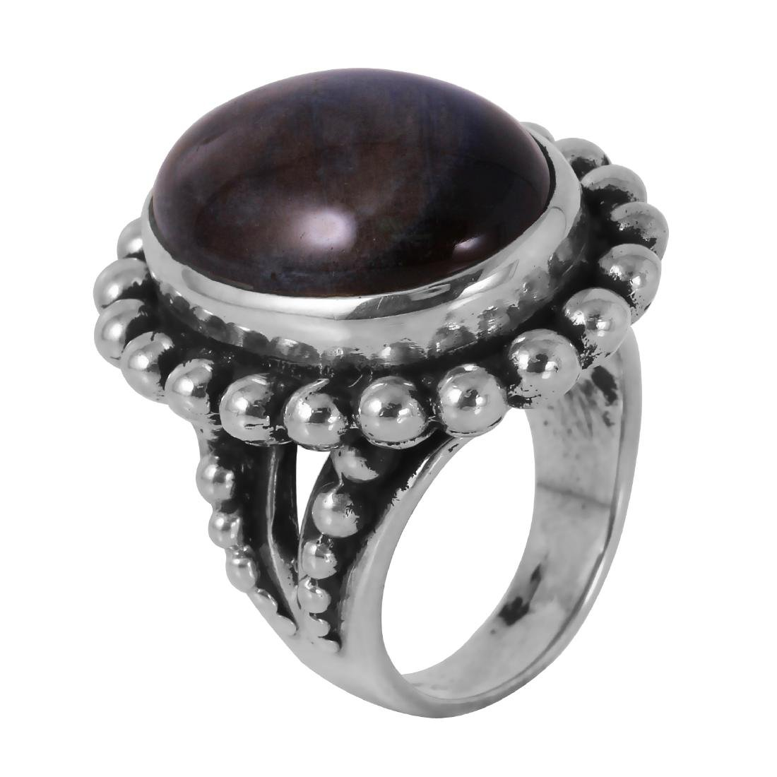 Stephen Dweck Sterling SIlver Fluorite Ring