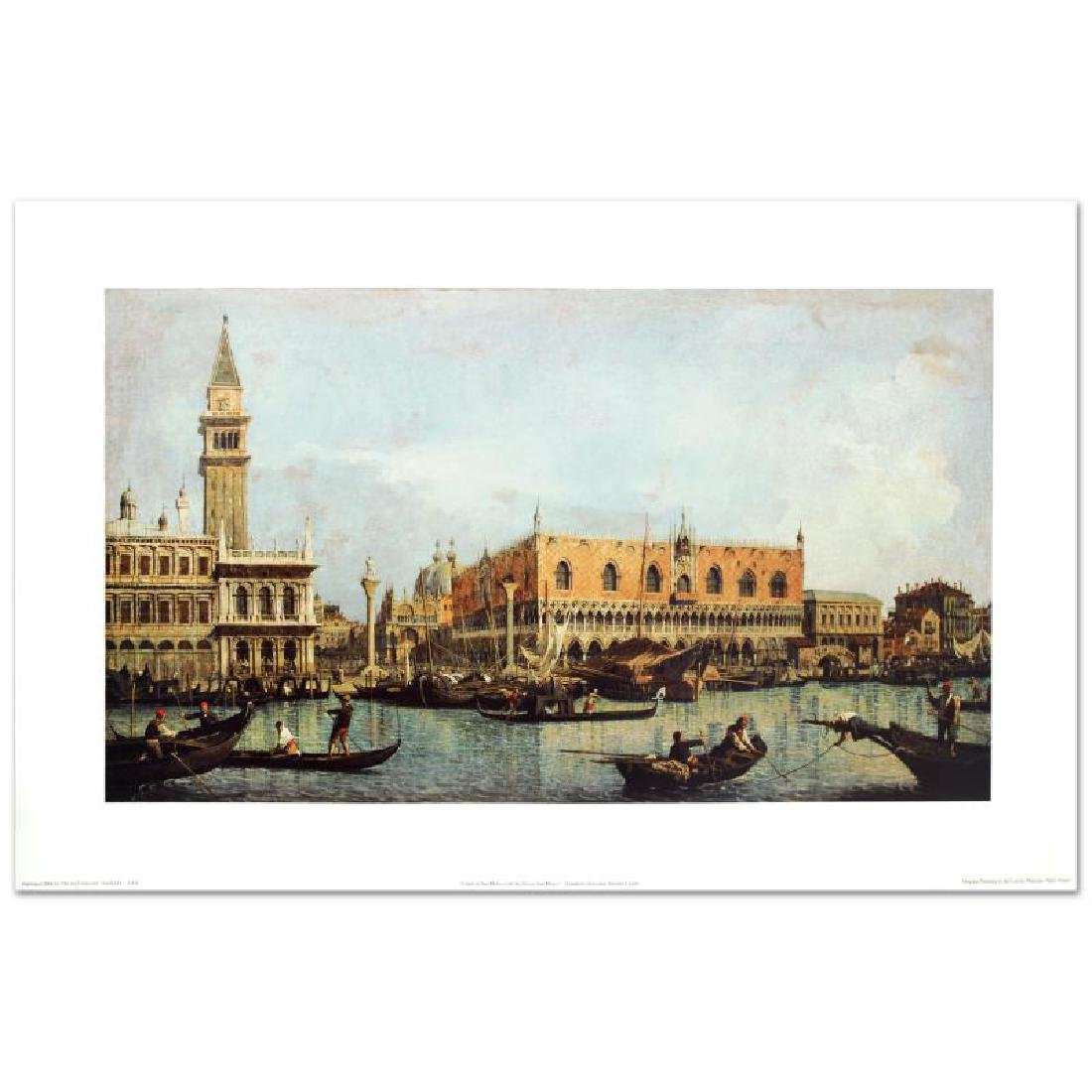 """Canal of San Marco with the Piazza San Marco"" Fine Art"