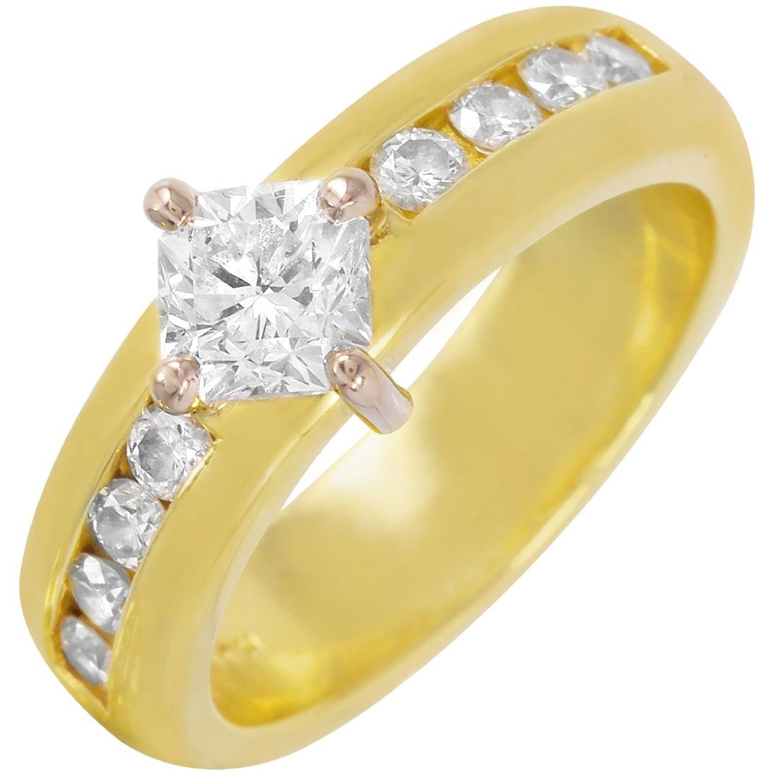 18KT Yellow Gold Diamond Engagement Ring