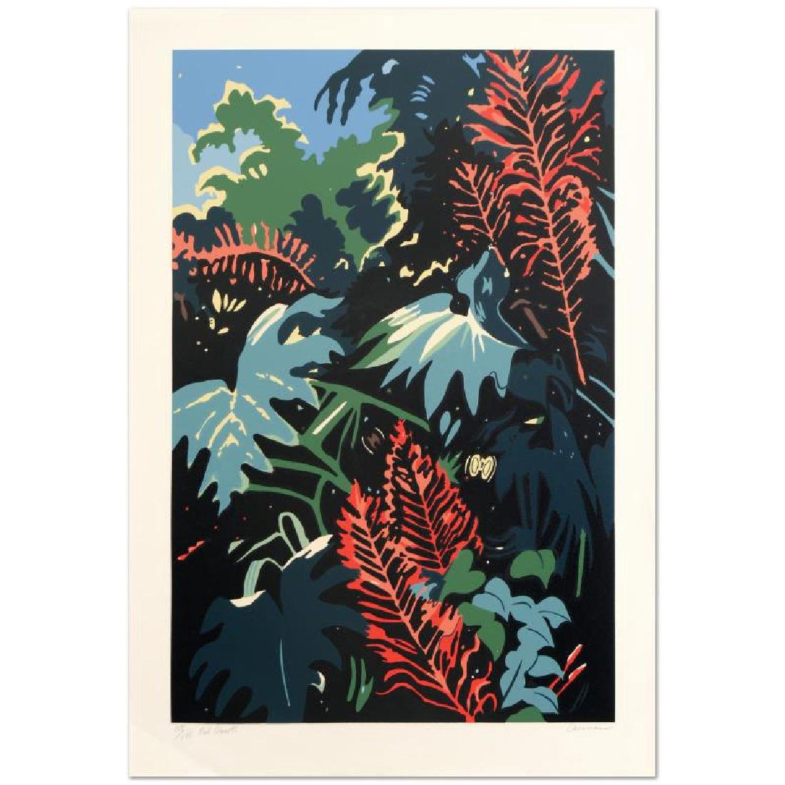 """Red Bursts"" Limited Edition Serigraph by Jon Carsman"