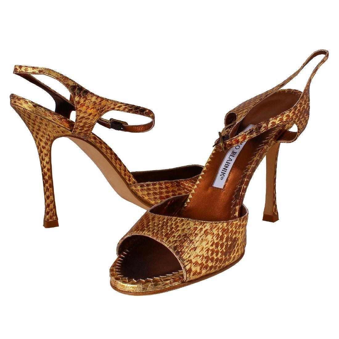 Manolo Blahnik Shoes - Snake Oro Gold Sz 39