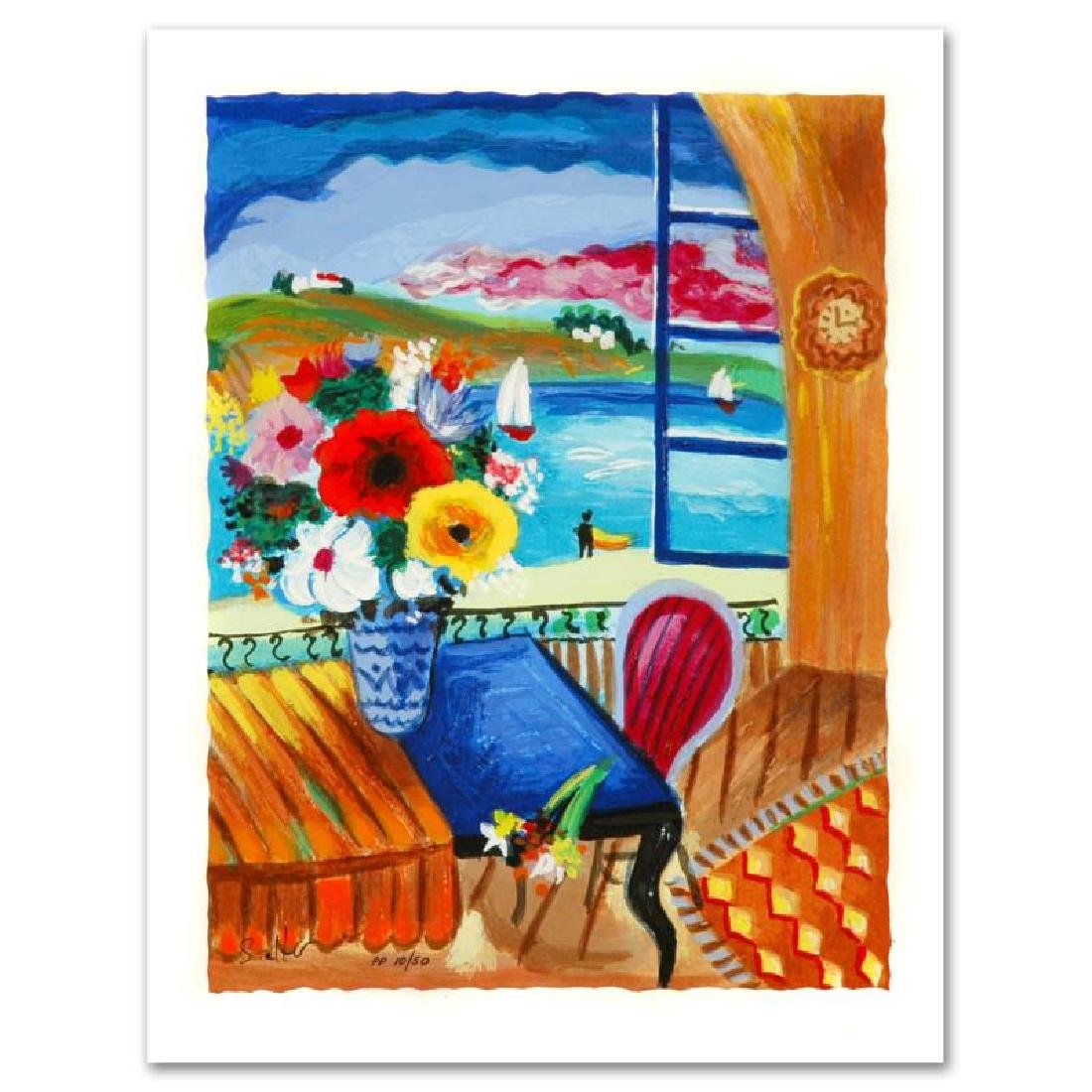 """""""Quiet Afternoon"""" Limited Edition Serigraph by Shlomo"""