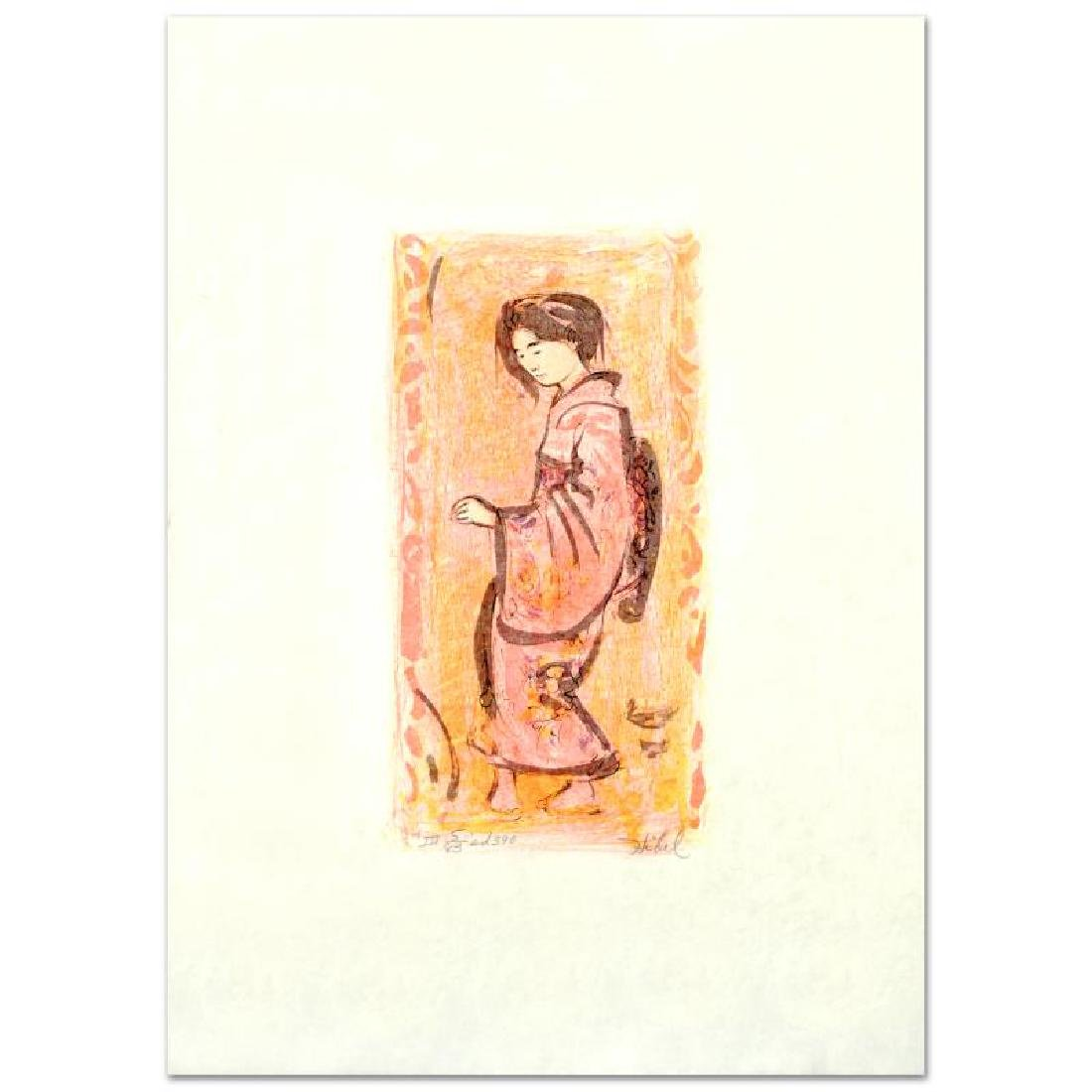 """""""Ume"""" Limited Edition Lithograph by Edna Hibel"""