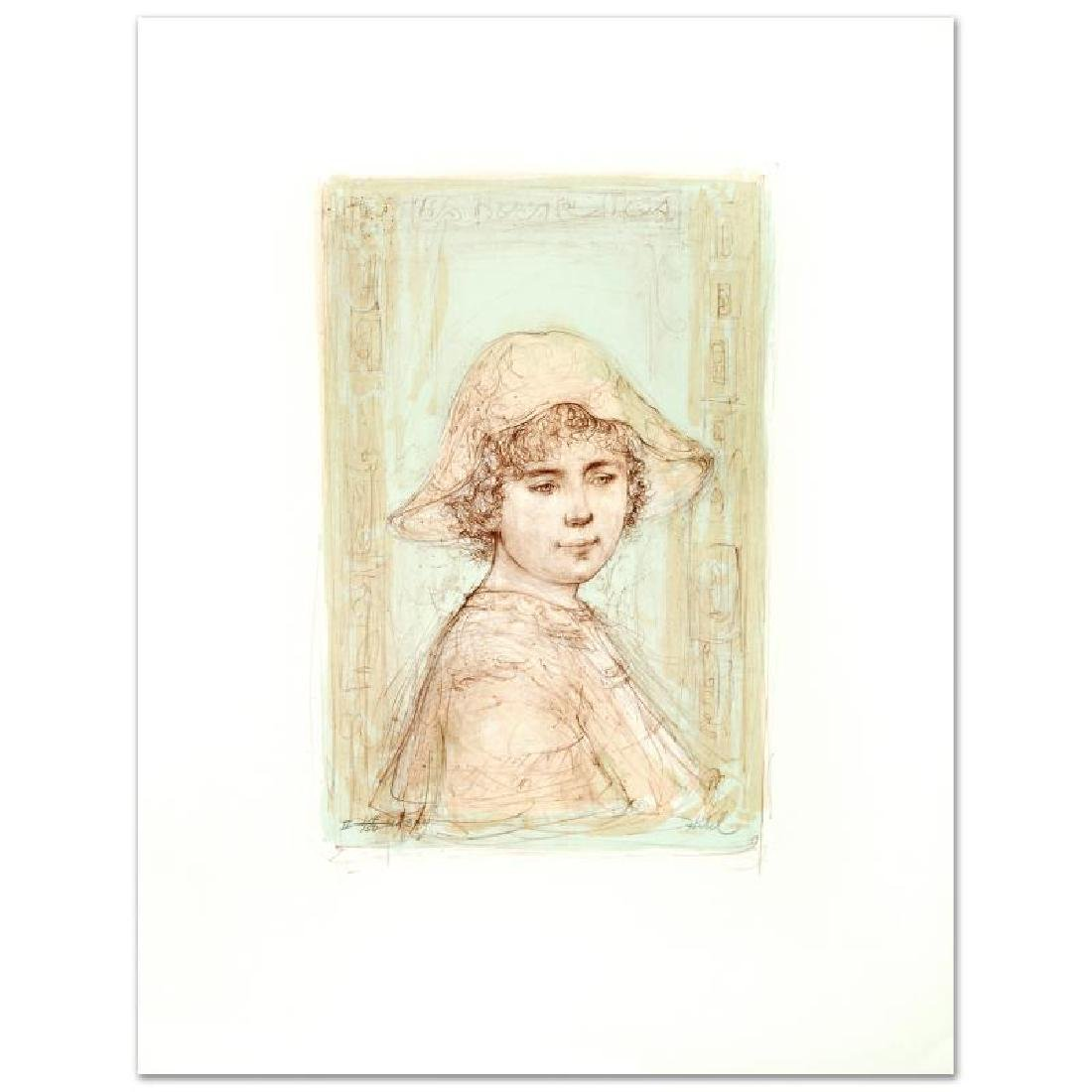 """""""Victoria"""" Limited Edition Lithograph by Edna Hibel"""