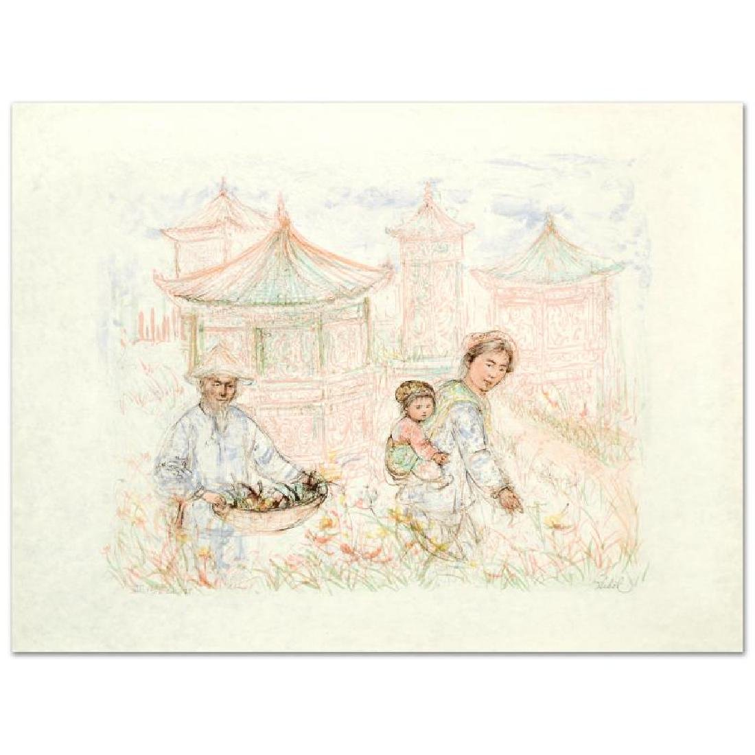 """""""Then and Now"""" Limited Edition Lithograph by Edna Hibel"""