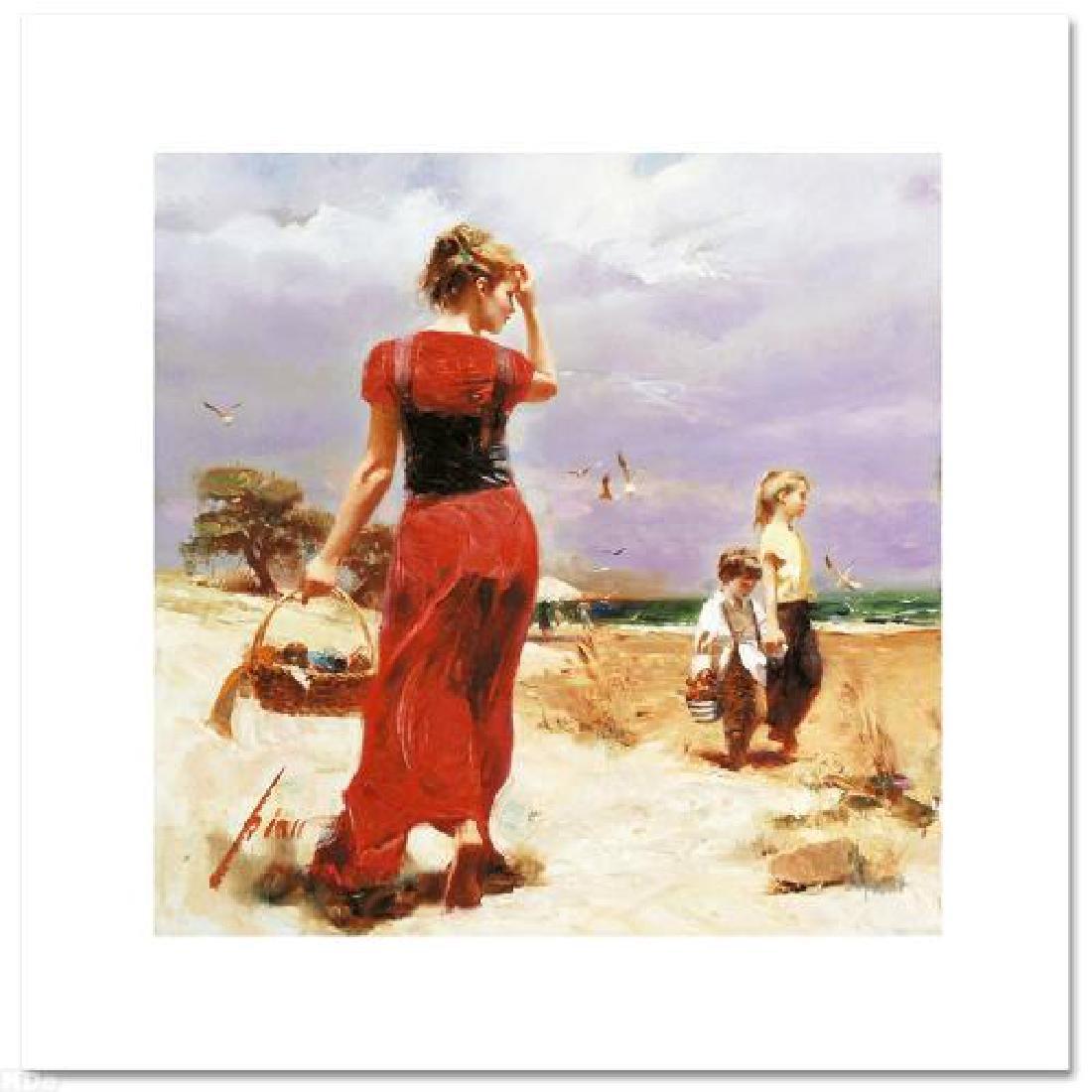 """Seaside Gathering"" LIMITED EDITION Artist-Embellished - 3"