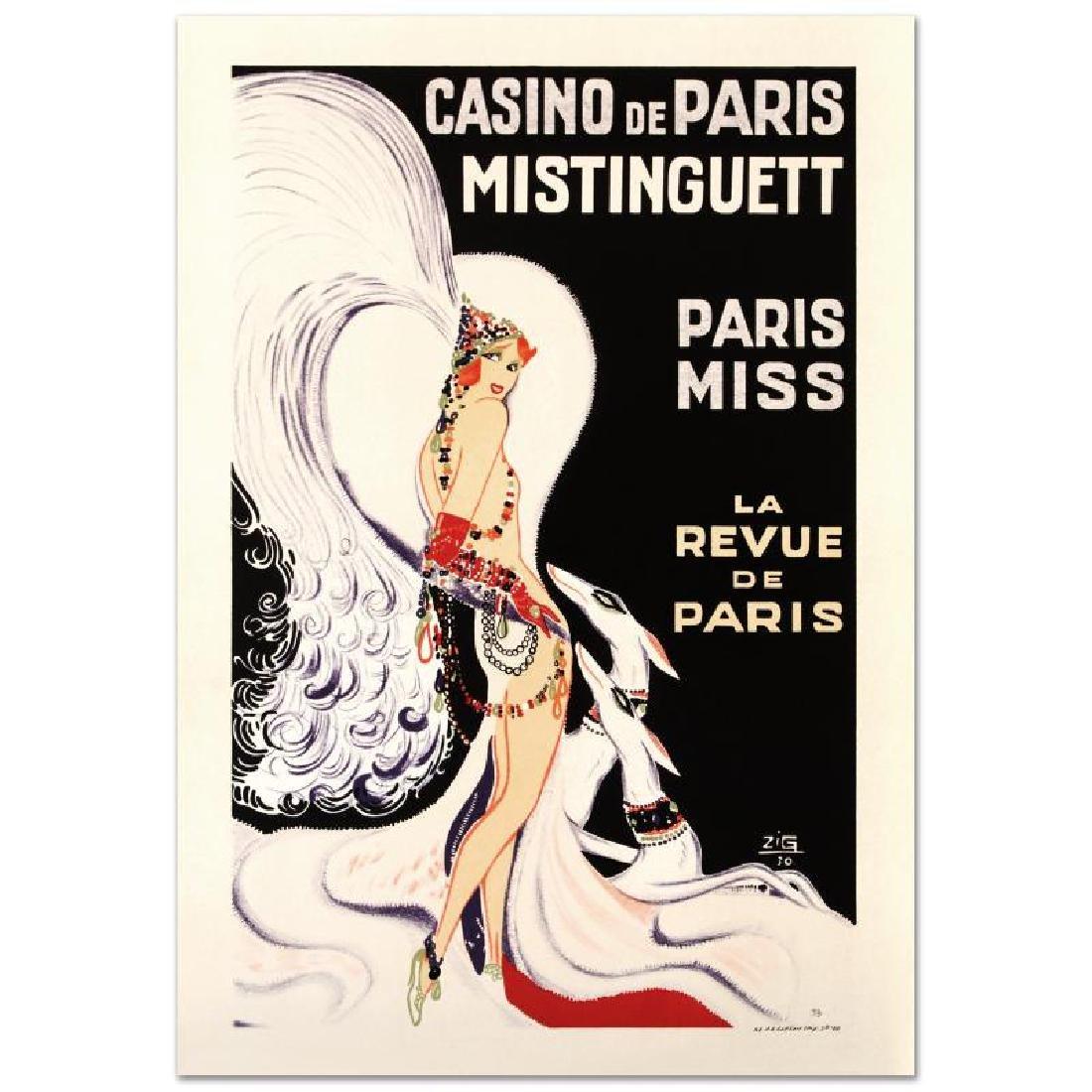 """""""Casino De Paris Mistenquette"""" Hand Pulled Lithograph - 3"""