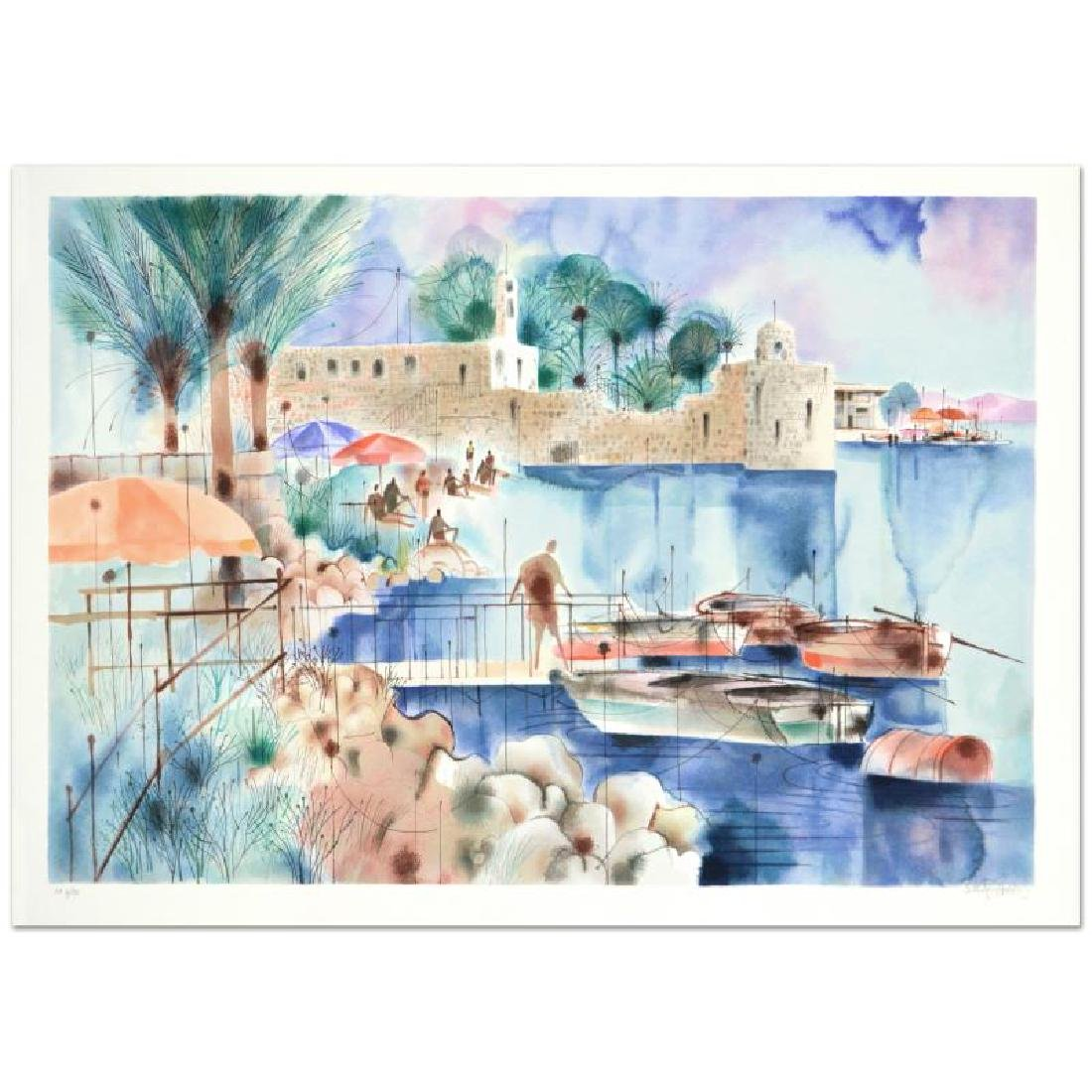 """Sea of Galilee"" Limited Edition Serigraph by Shmuel"