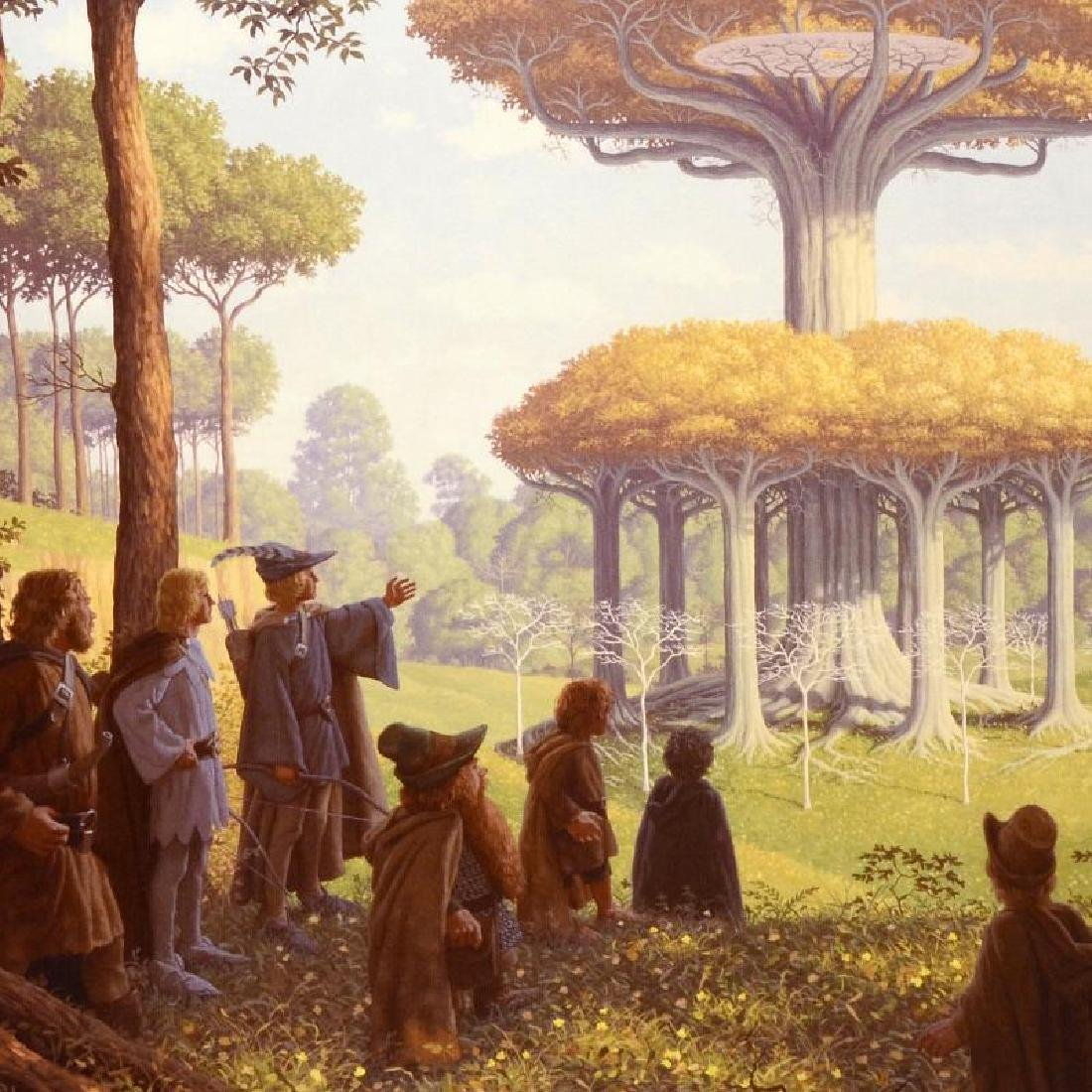 """""""Lothlorien"""" Limited Edition Giclee on Canvas by The - 4"""