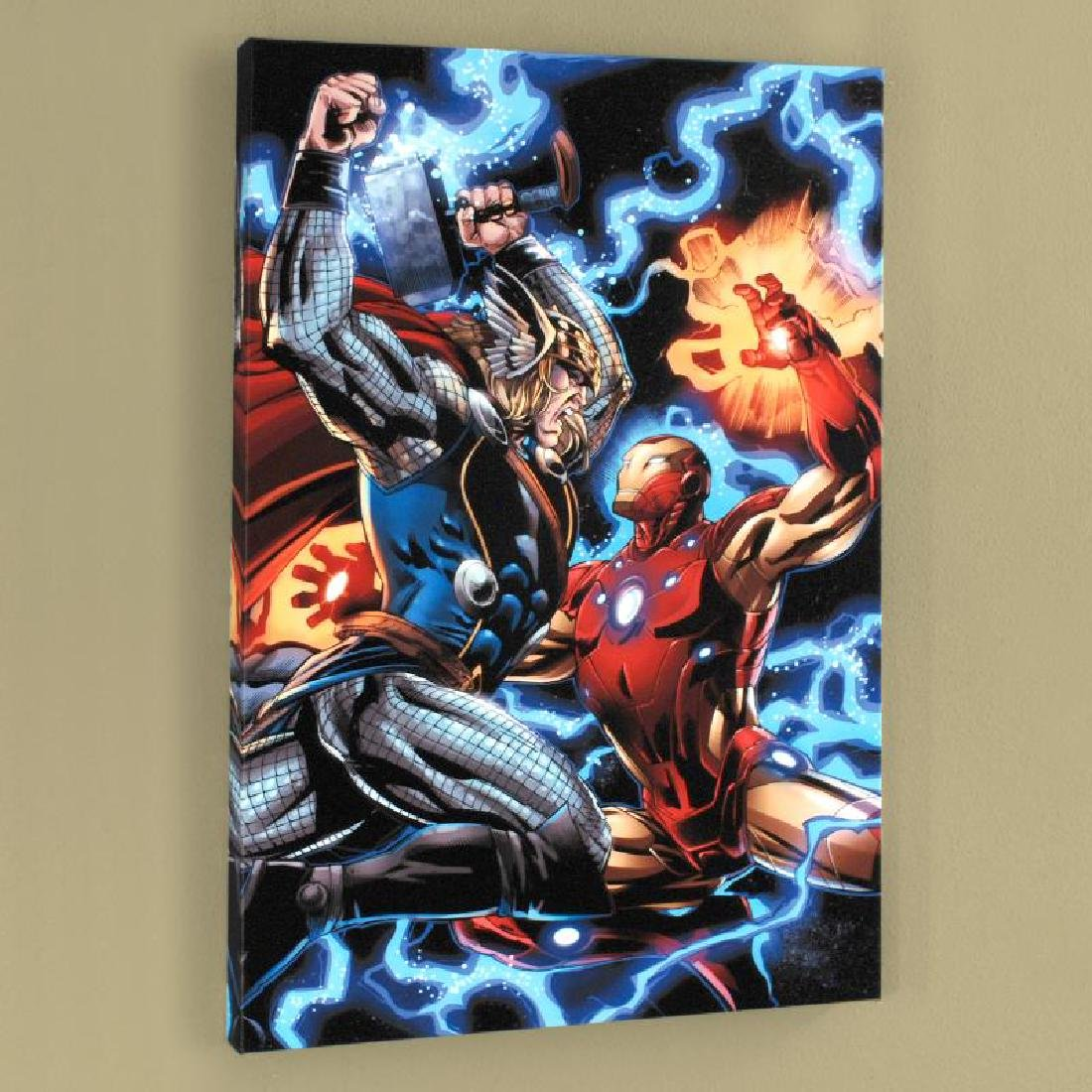 """Iron Man/Thor #3"" Limited Edition Giclee on Canvas by"