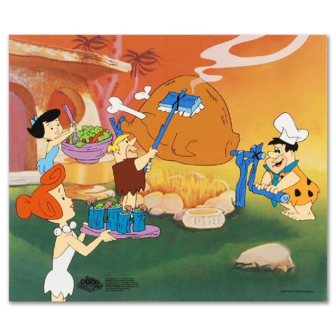 Flintstones Barbecue Limited Edition Sericel from the