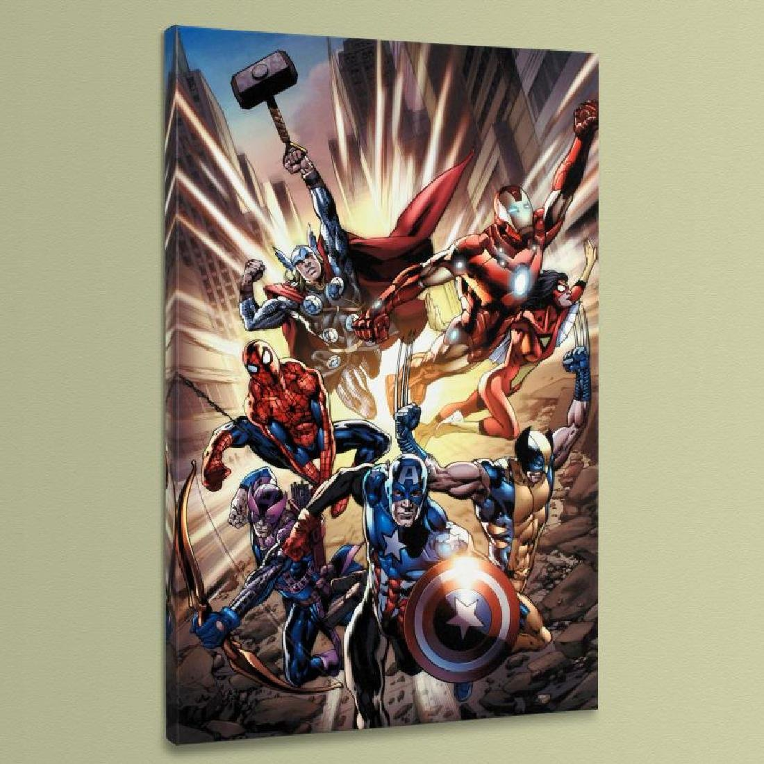 """Avengers #12.1"" LIMITED EDITION Giclee on Canvas by"