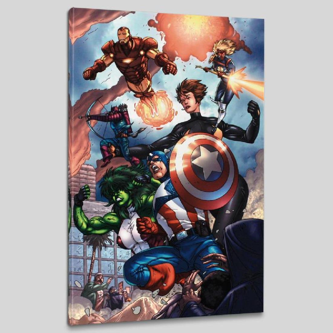 """""""Avengers #84"""" LIMITED EDITION Giclee on Canvas by - 4"""